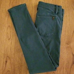 Joe's Jeans stretchy teal jeggings